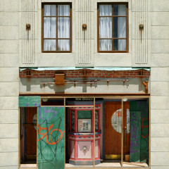 Orient Palace, 2013. Mixed media; 29 x 18 x 4 in. (1/12 scale)